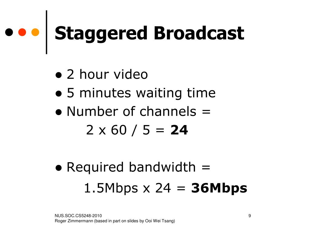 Staggered Broadcast