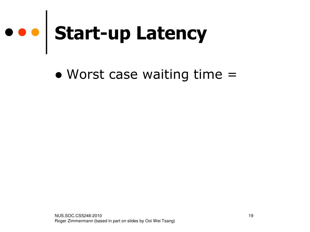 Start-up Latency