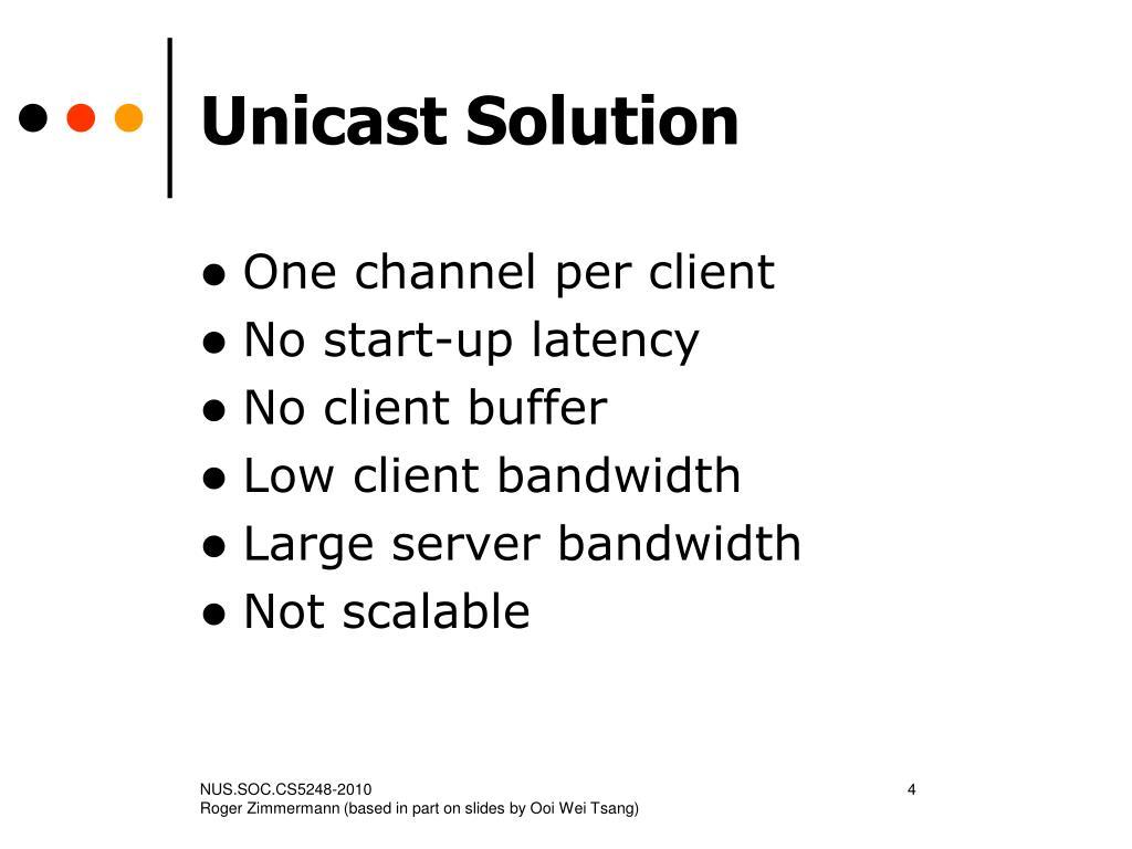 Unicast Solution