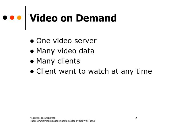 Video on demand2