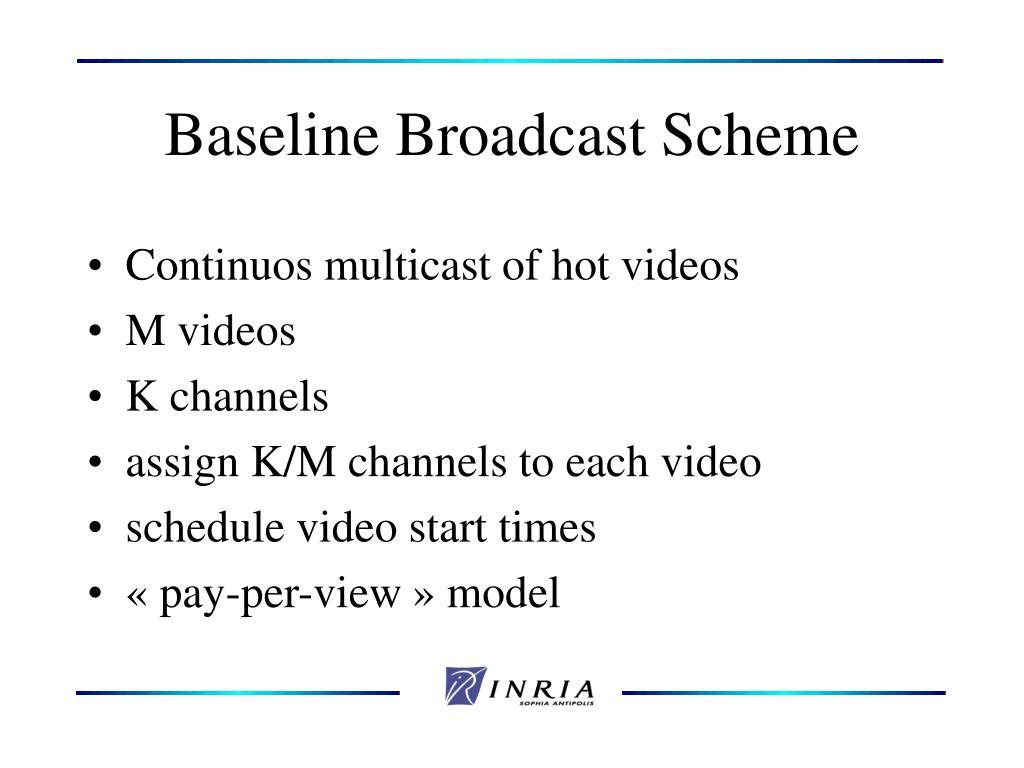 Baseline Broadcast Scheme