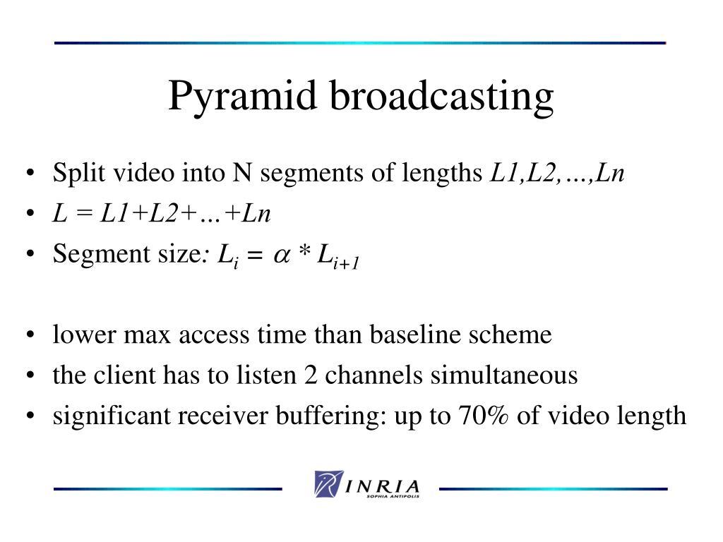 Pyramid broadcasting