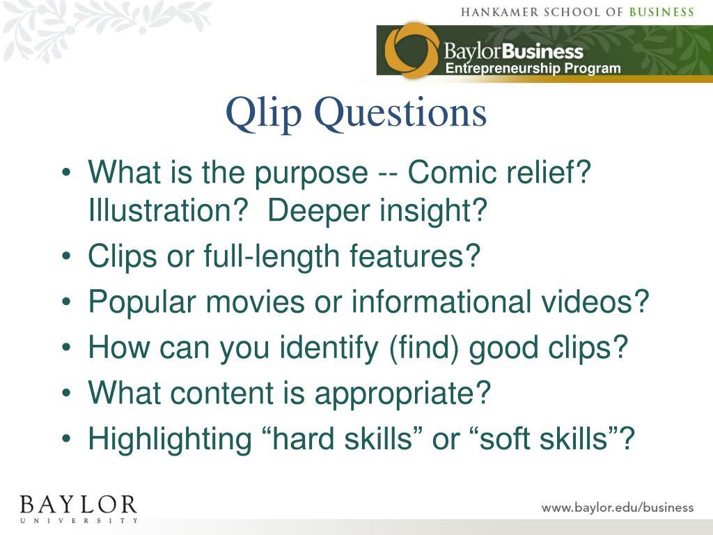 Qlip Questions