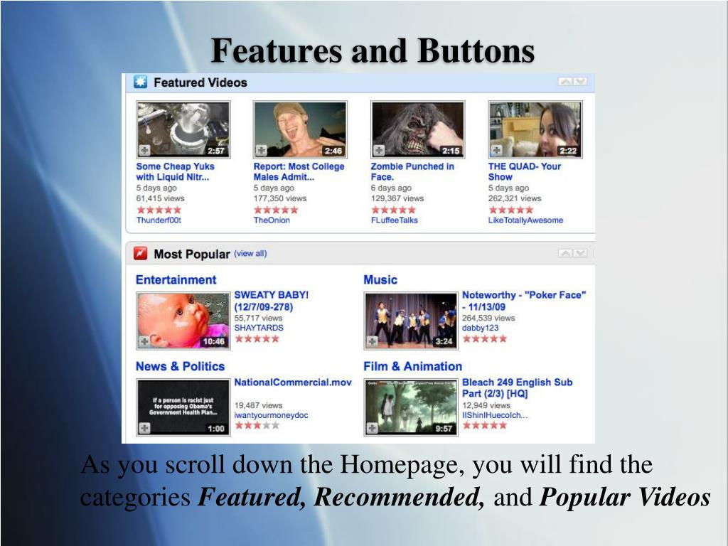 Features and Buttons