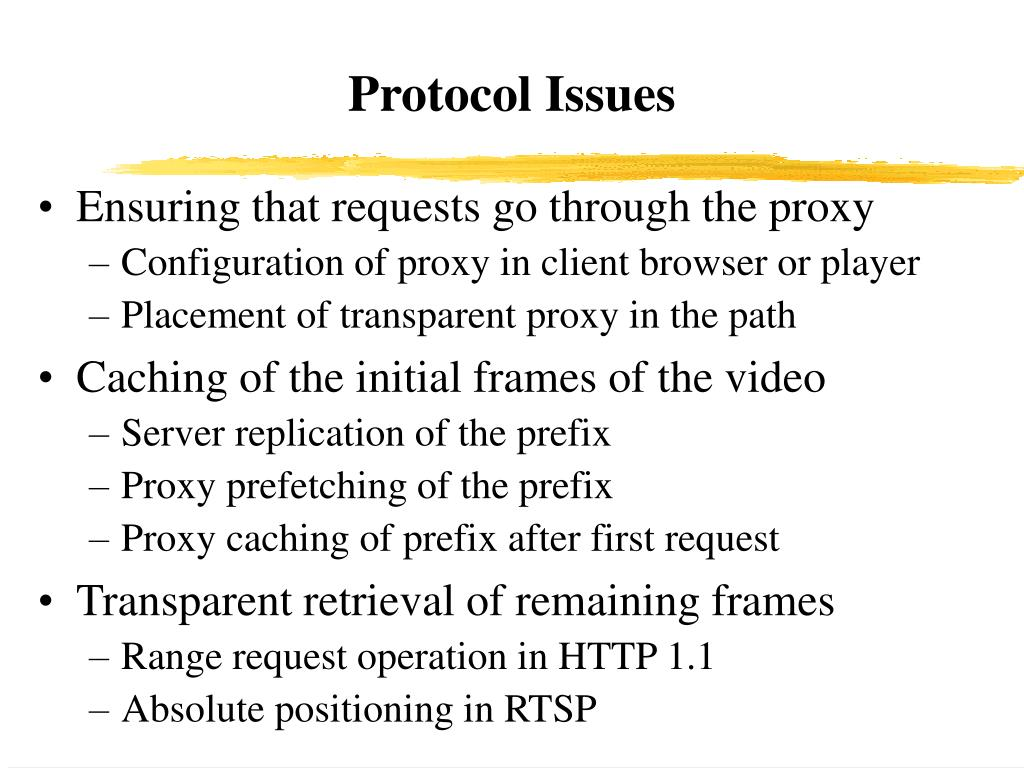 Protocol Issues