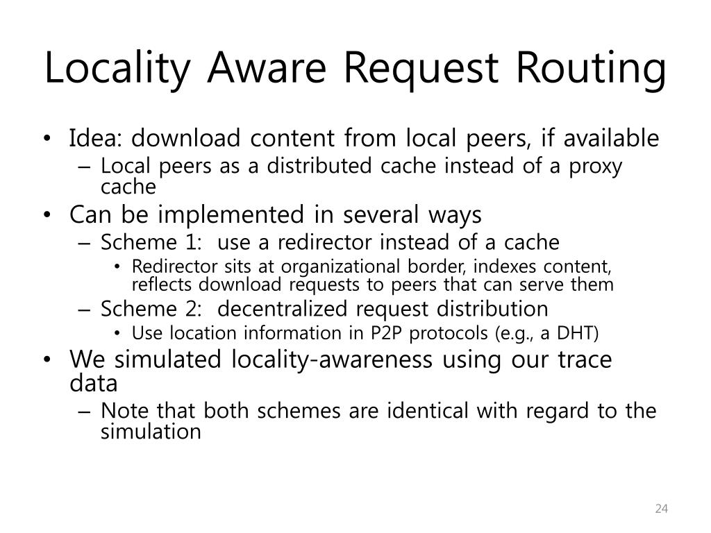 Locality Aware Request Routing