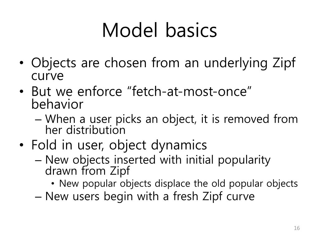 Model basics