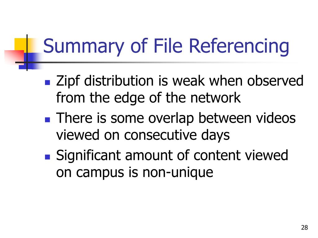 Summary of File Referencing