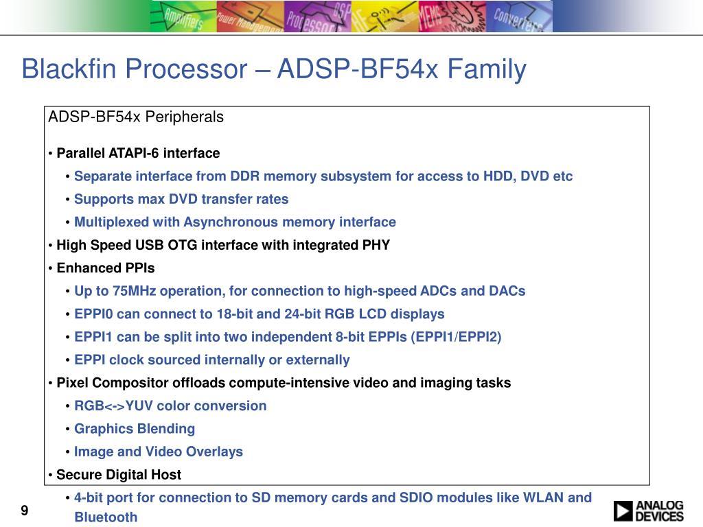 Blackfin Processor – ADSP-BF54x Family