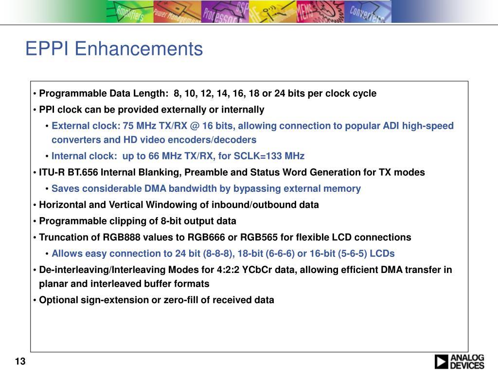 EPPI Enhancements