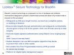 lockbox secure technology for blackfin