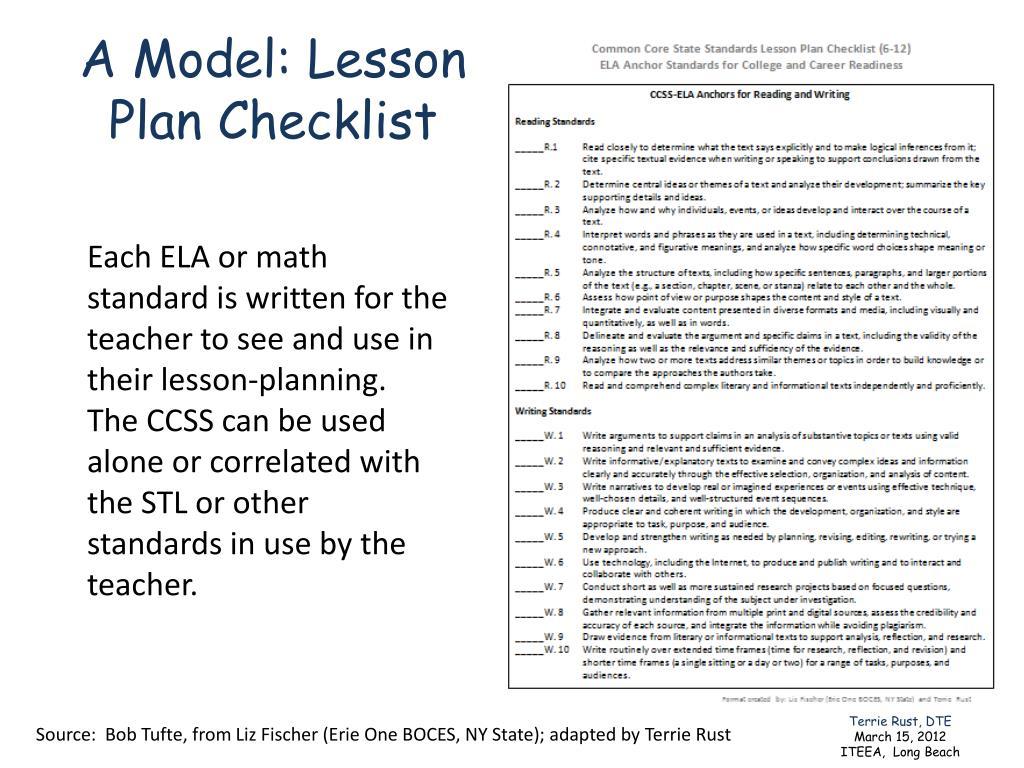 A Model: Lesson