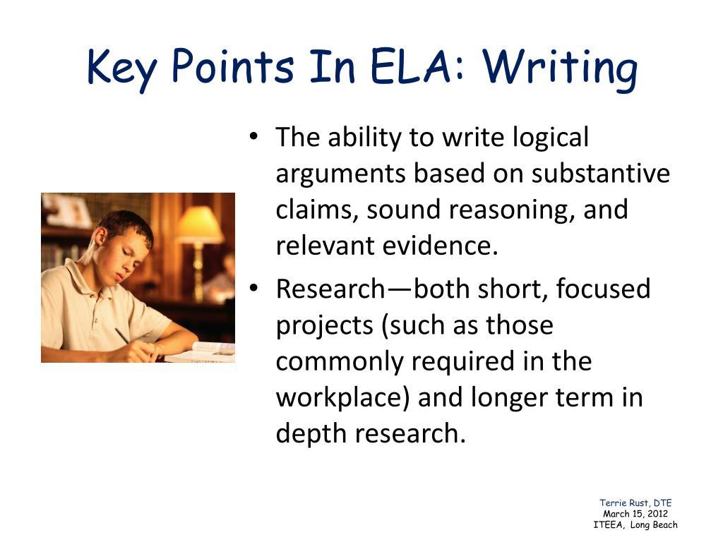 Key Points In ELA: Writing