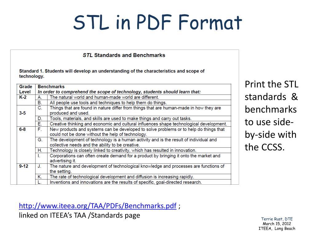 STL in PDF Format