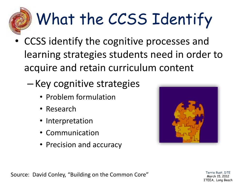What the CCSS Identify
