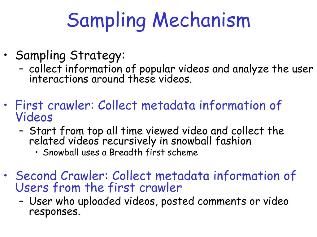 Sampling Mechanism