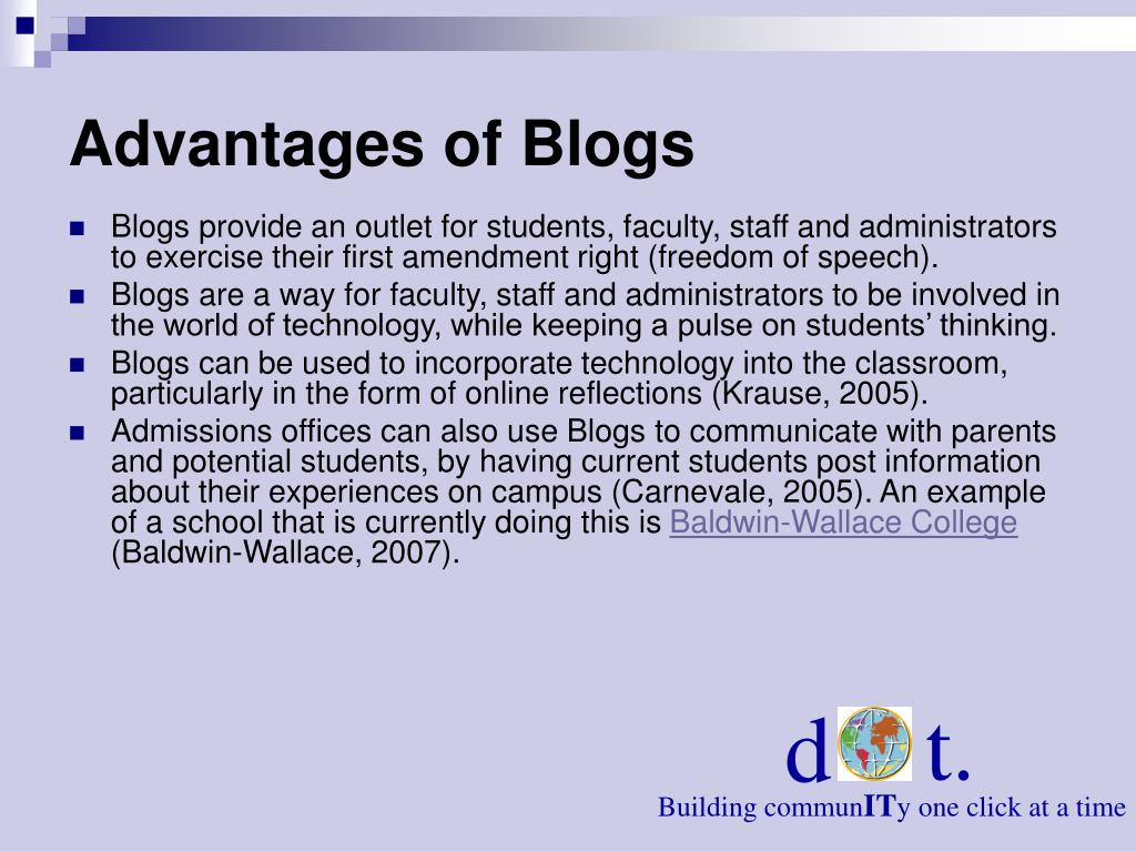 Advantages of Blogs