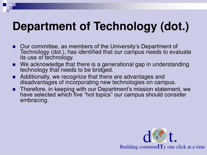 Department of technology dot