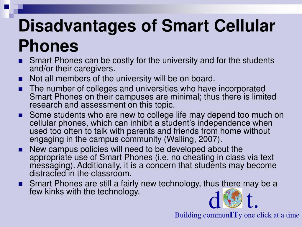 Disadvantages of Smart Cellular Phones
