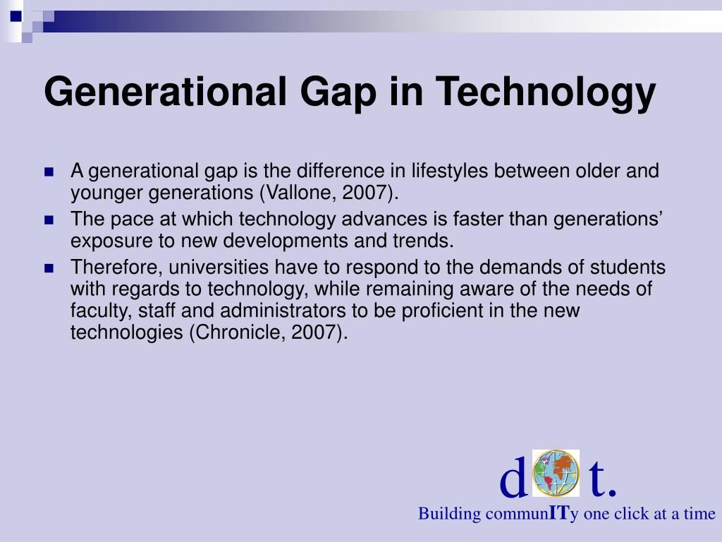 Generational Gap in Technology