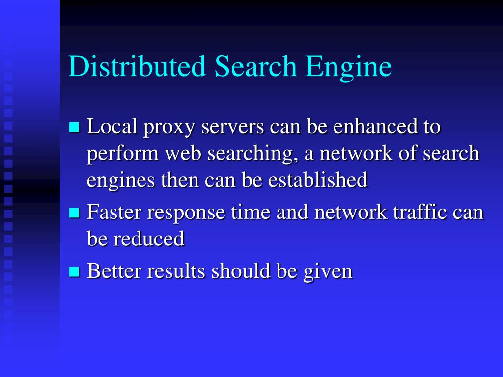 Distributed Search Engine