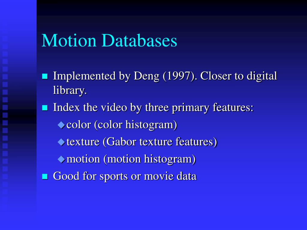 Motion Databases