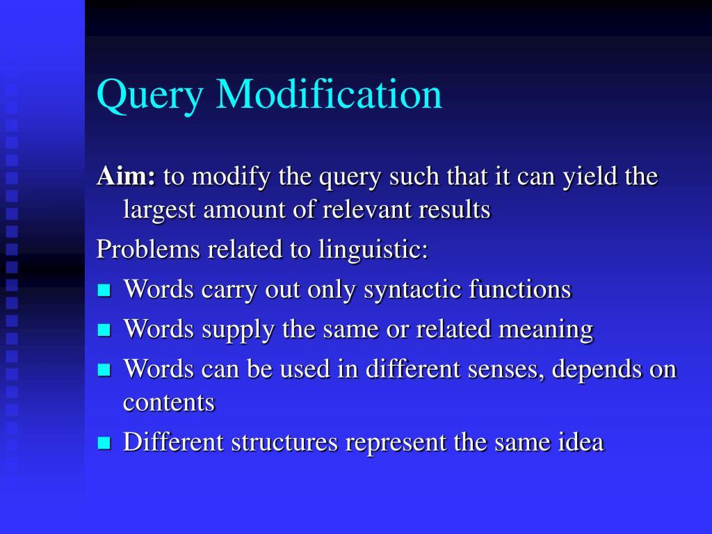 Query Modification