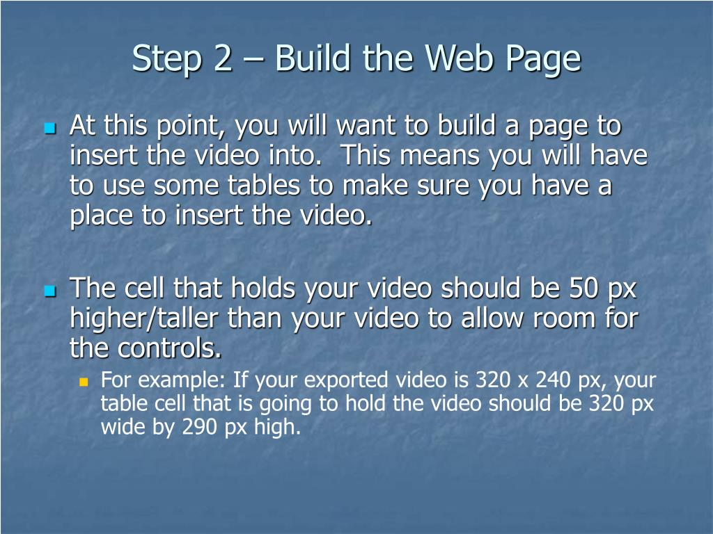 Step 2 – Build the Web Page