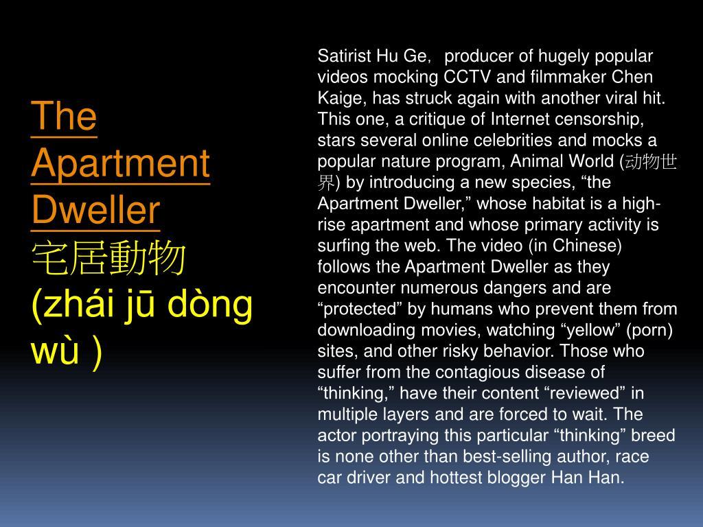 Satirist Hu Ge,producer of hugely popular videos