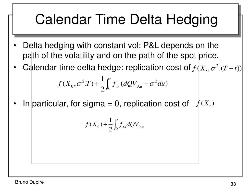 Calendar Time Delta Hedging