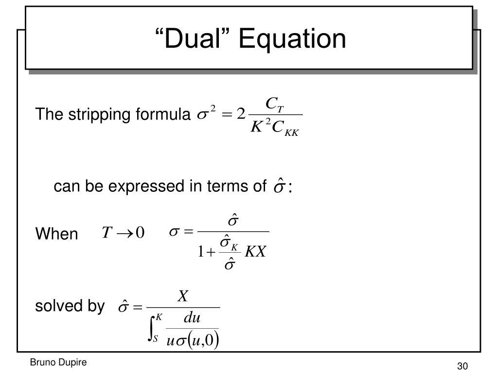 """""""Dual"""" Equation"""