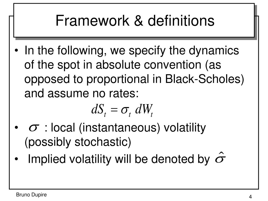 Framework & definitions