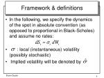 framework definitions