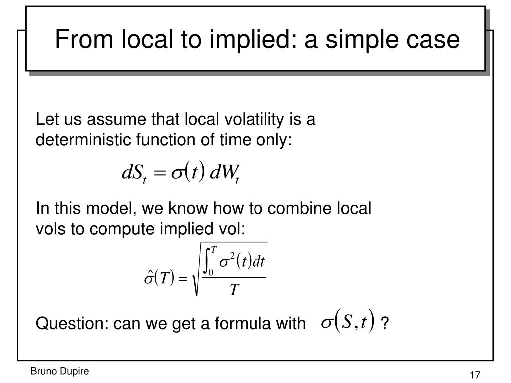 From local to implied: a simple case