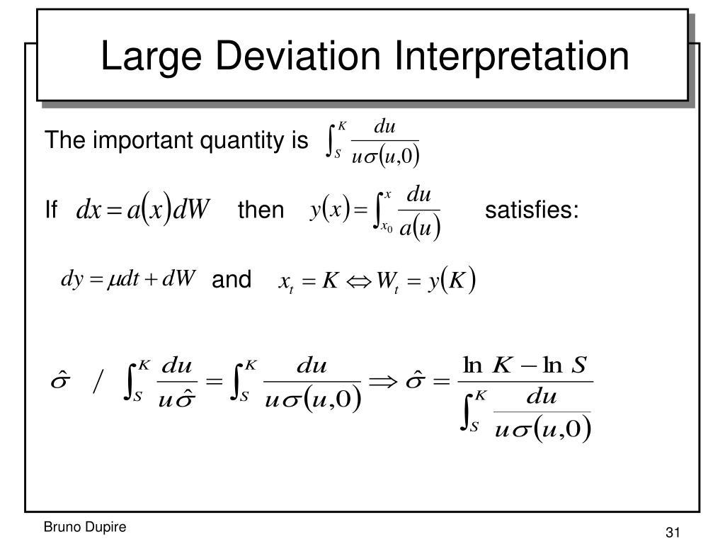 Large Deviation Interpretation