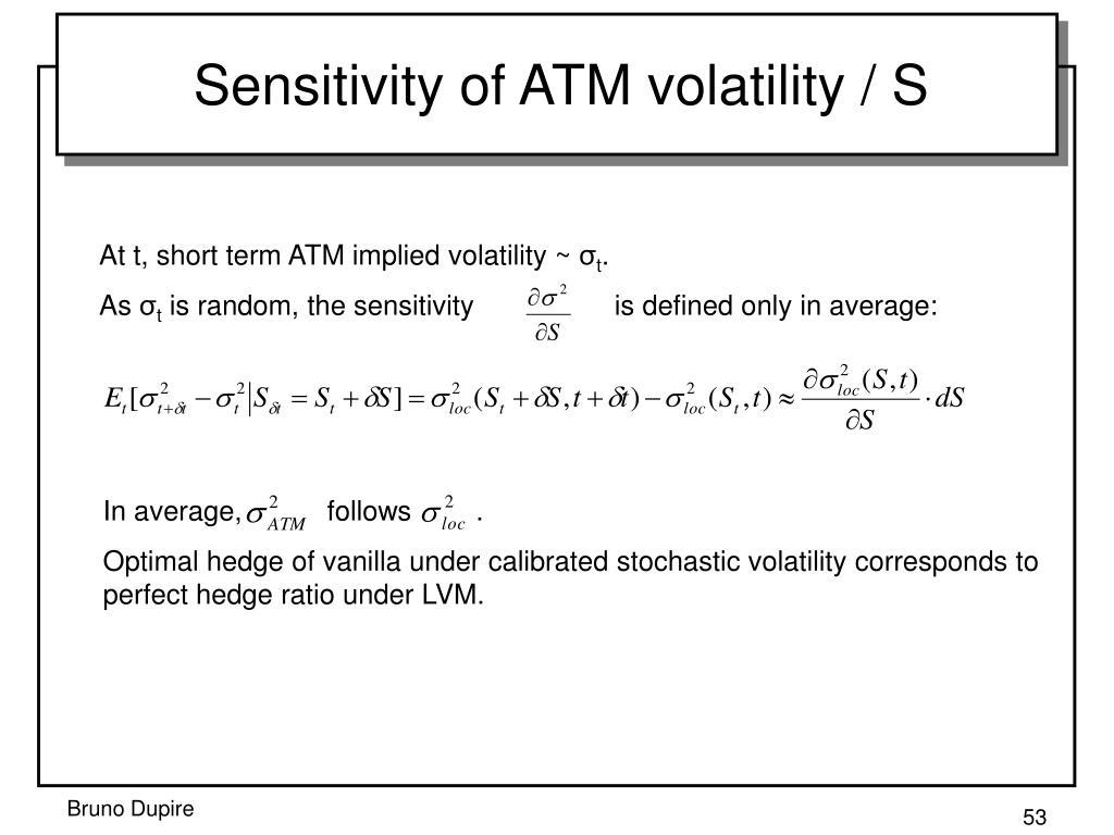 Sensitivity of ATM volatility / S