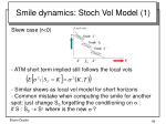 smile dynamics stoch vol model 1