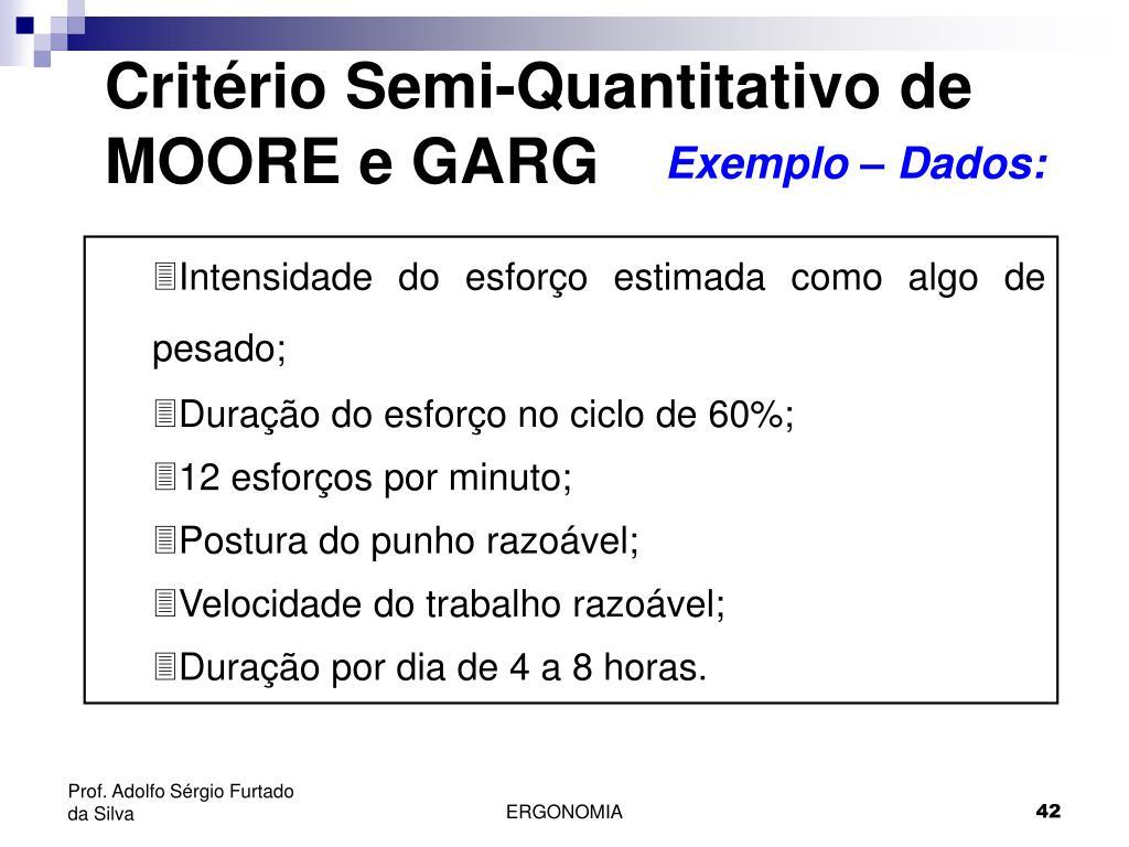 Critério Semi-Quantitativo de