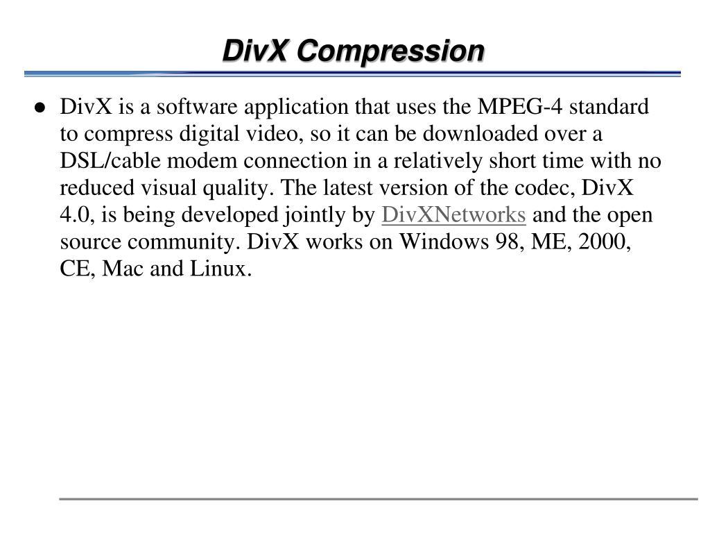 DivX Compression