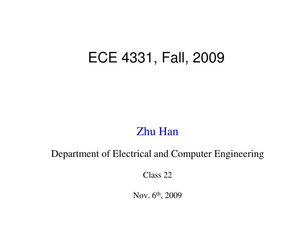 ece 4331 fall 2009