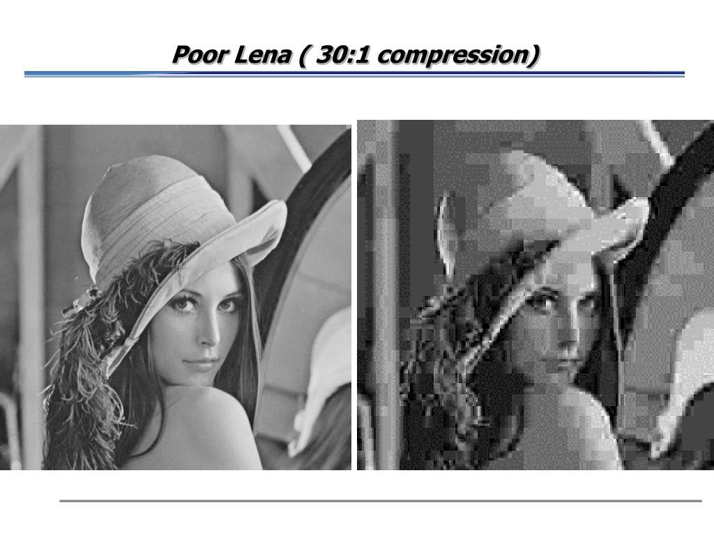 Poor Lena ( 30:1 compression)