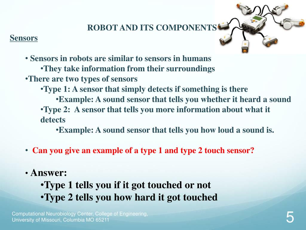 ROBOT AND ITS COMPONENTS