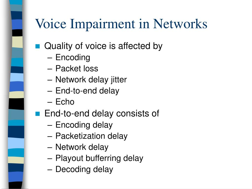 Voice Impairment in Networks