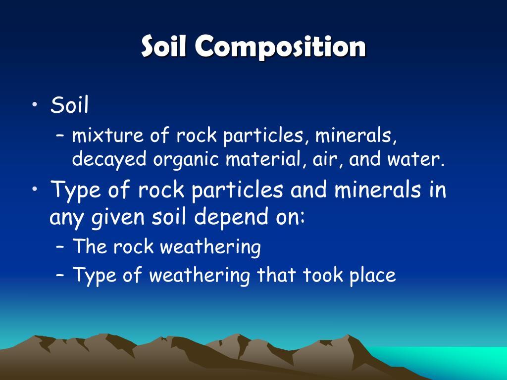 Ppt unit 3 rocks soil minerals powerpoint for Mineral soil vs organic soil