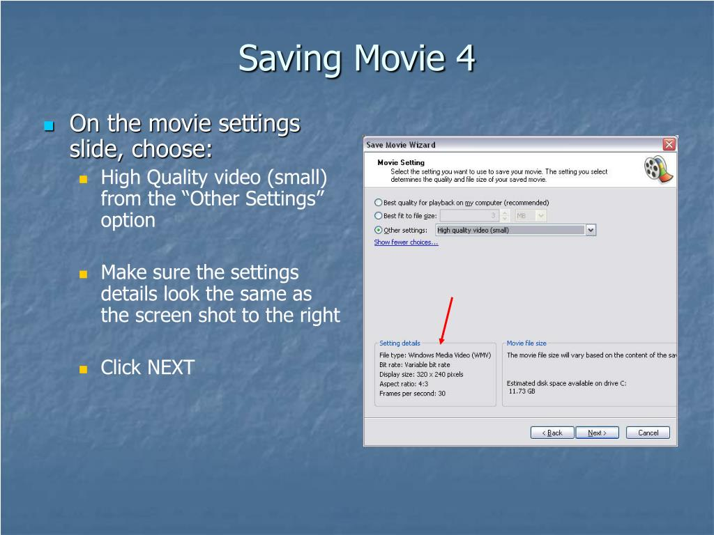 Saving Movie 4