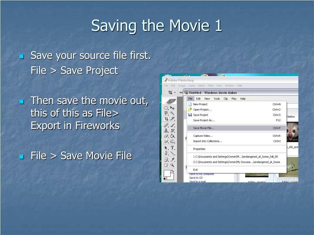 Saving the Movie 1