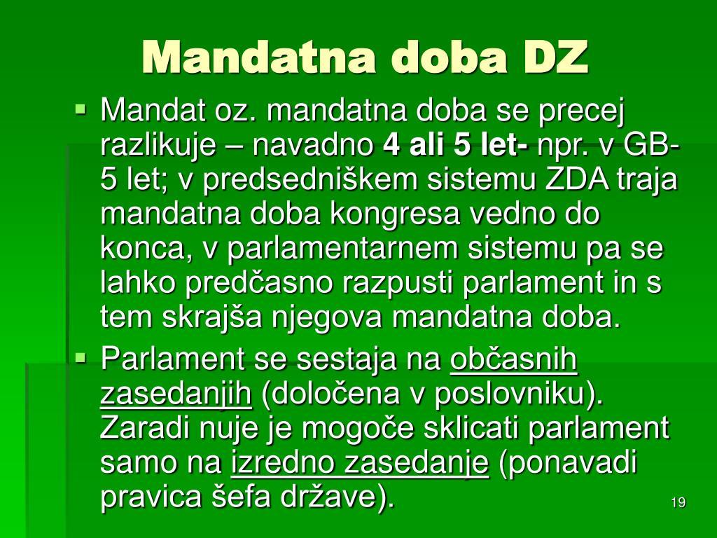 Mandatna doba DZ