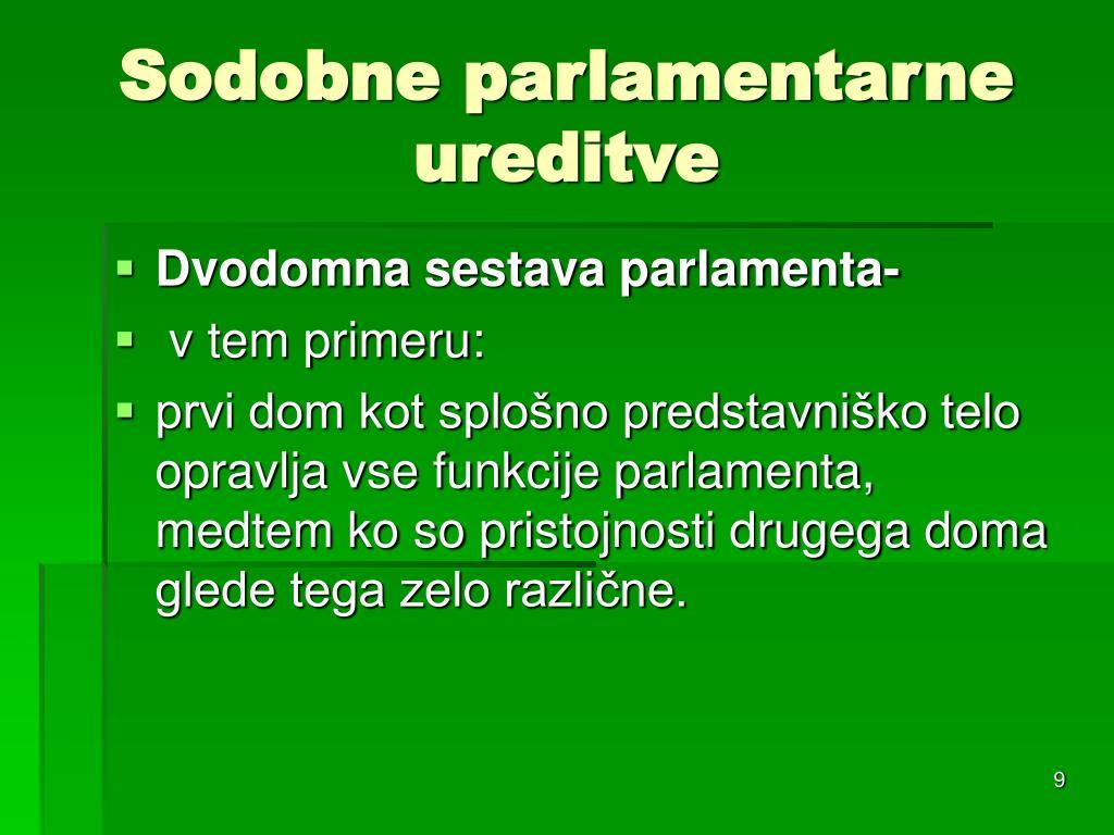 Sodobne parlamentarne ureditve