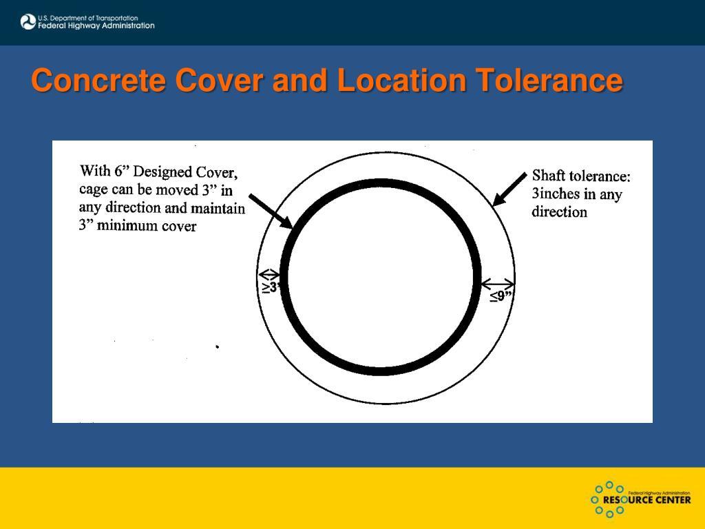 Concrete Cover and Location Tolerance