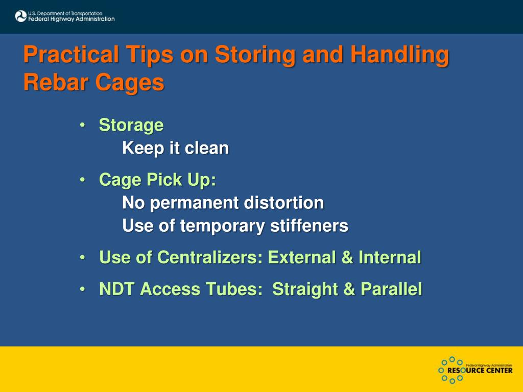 Practical Tips on Storing and Handling Rebar Cages